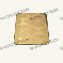 304 Edelstahl geätztes Blatt Ket012 für Dekorationsmaterialien