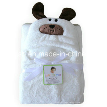 Dicker Umhang-Baby-weißer mit Kapuze Umhang-kreativer Tier geformter Umhang