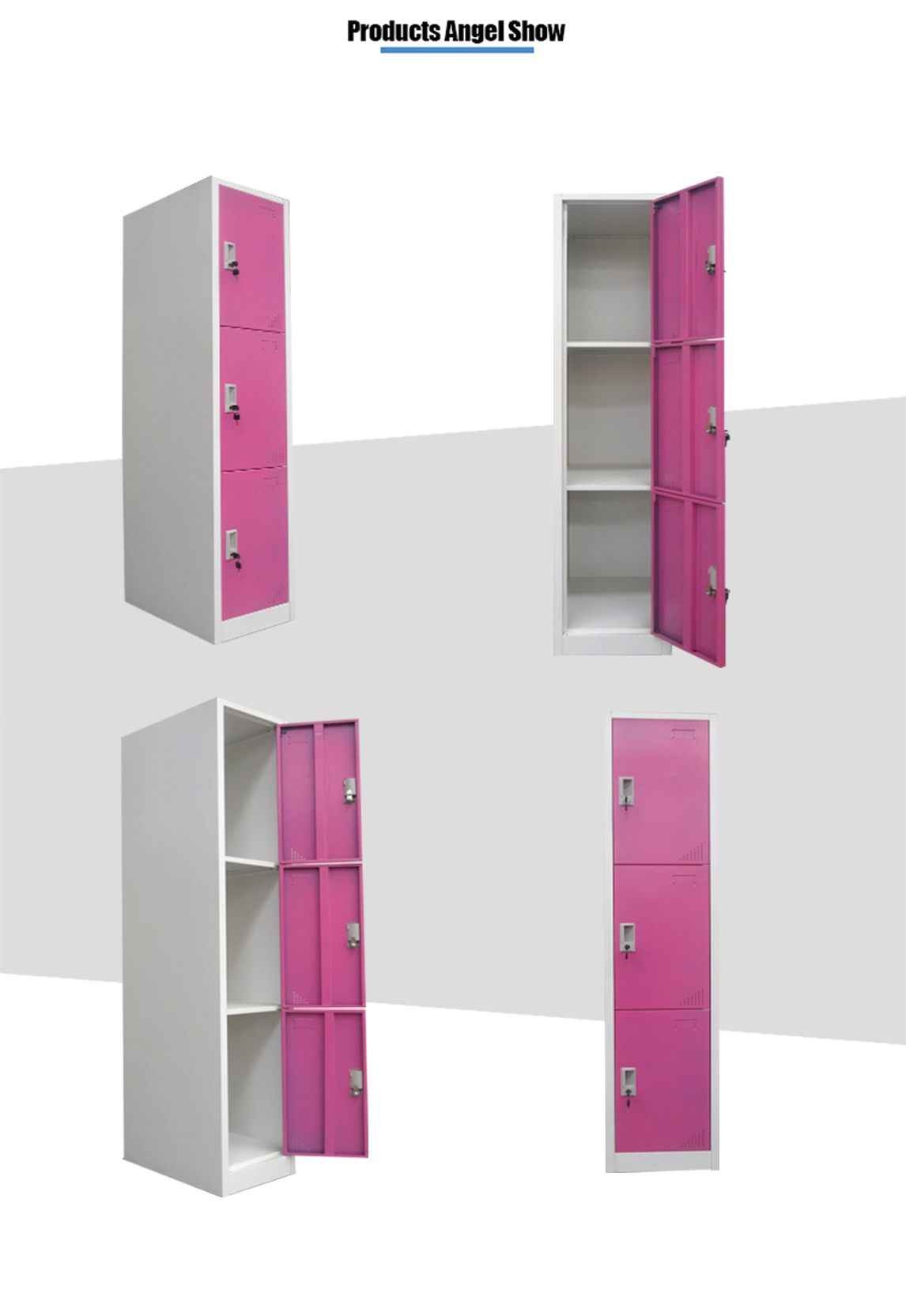 3 tier compartment locker