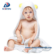 Personalize 100% organic bamboo 36*36inch baby hooded towel with bear Personalize 100% organic bamboo 36*36inch baby hooded towel with bear