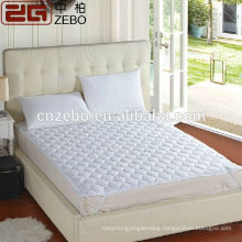 Cheap Wholesale Polyester Fiber Filling White Quilted Mattress Protector