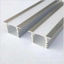 Perfil de aluminio OEM Al6063 para luz de tira llevada