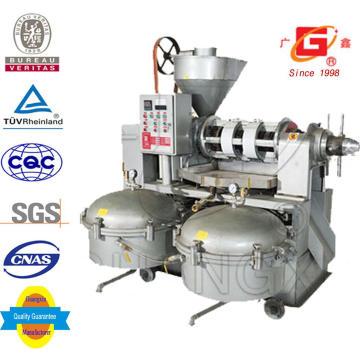 Expulsor automático de aceite de semillas de prensa de aceite con filtro de aceite 100L