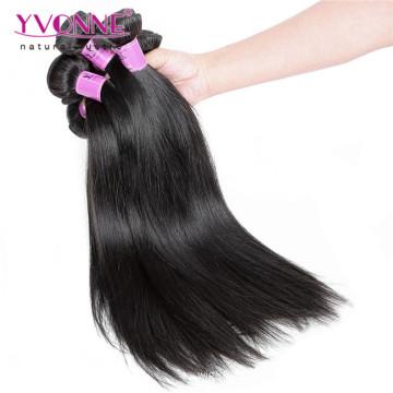 Cheveux vierges droits péruviens non transformés de bonne qualité