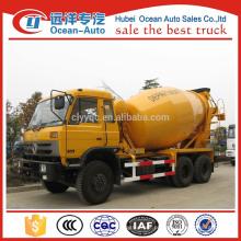 DongFeng 8 cbm caminhão misturador de concreto, dimensão do caminhão misturador de concreto feito na China