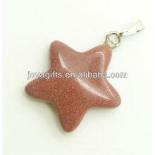 Pingente de estrela de pedra semi precioso com alta qualidade