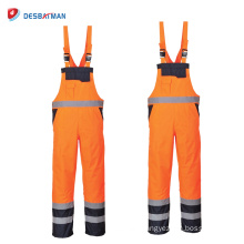 Adjustable High Visibility Safety Coveralls Overalls Suit Mens EN471 with Reflective Tapes and Pockets