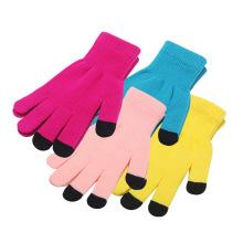 Günstigster preis 3 Finger Acryl Winter Warm SMS touchscreen handschuhe Touchscreen Handschuh für iphone Smartphone