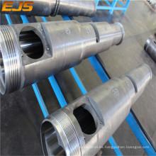 PVC plástico tornillo barril/estirador cónico doble tornillo barril