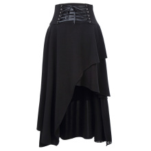 "Belle Poque Women's Black Vintage Retro Gothic Style Irregular Skirt 37"" BP000344-1"