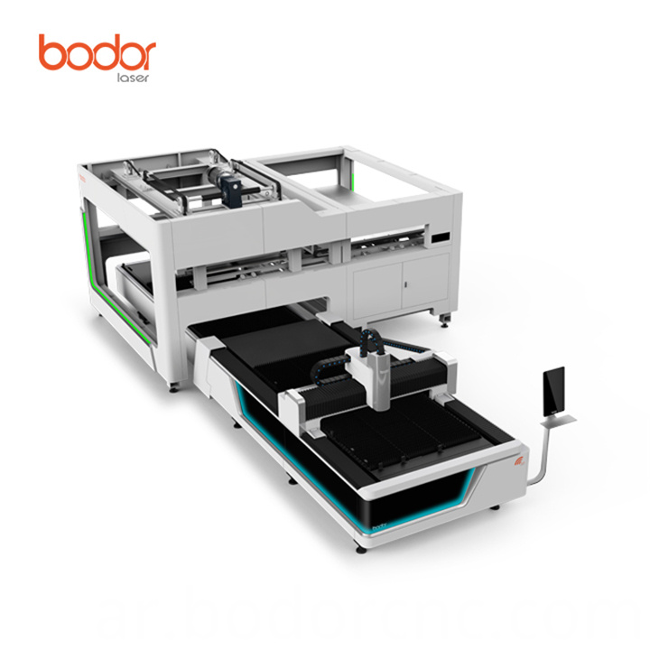 Auto-feeding exchange table cnc laser cutting machine