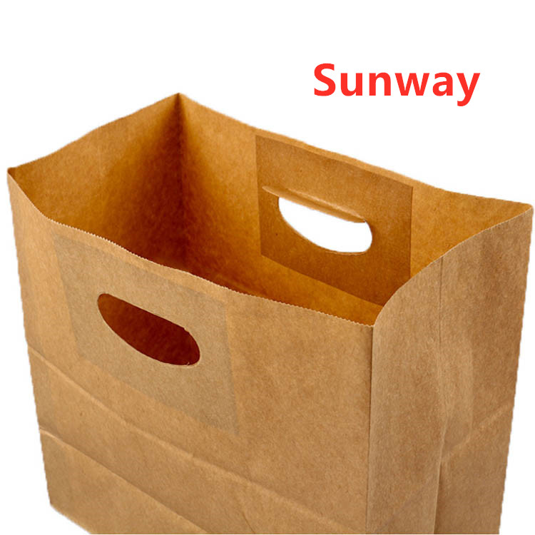 Kraft paper bags with punch holes