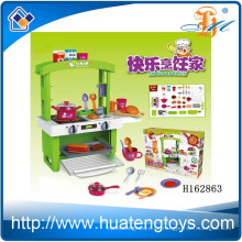 2015 Neues Einzelteil ABS-Plastik großes Küchespielzeugsatz für Kinder spielen mit Licht H162863
