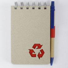 Grey eco-friendly spiral bound paper notebook