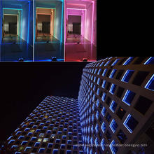 Marco de ventana del edificio de haz estrecho Iluminación LED moderna