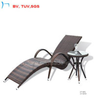 Modern Outdoor Sun Lounger Withe Side Table (CF1007)