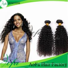 Top Quality Kinky Curly Brazilian Human Hair/Virgin Hair Extension Weft