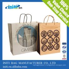 Recyclage personnalisé imprimé sacs à main populaires