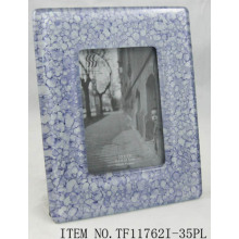 Round Fused Glass Photo Frame