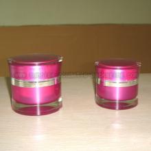 Упаковка косметических розовые Акриловые Косметические Jar 50 г 30g