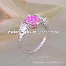 Raro gemstone jóias opala vintage opala de prata anel de noivado de prata