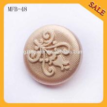 MFB48 nouvelle arrivée 20mm bouton de tige en métal doré pour les manteaux 2015