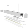 Luz negra LED blanca 010 V regulable 1200 mm 72w LED lineal