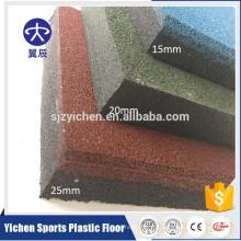 Tapis de sol en caoutchouc pour salle de sport intérieure haute densité et sans odeur