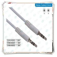 Weiß Premium 6.35mm männlich zu männlichen Stereo-Kabel