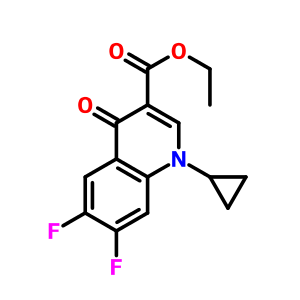Cas98349-25-8 ETHYL 1-CYCLOPROPYL-6,7-DIFLUORO-4-OXO-1,4-DIHYDROQUINOLINE-3-CARBOXYLATE