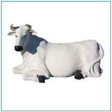 Garden Decoration Resin Life Size White Fiberglass Cow Statue