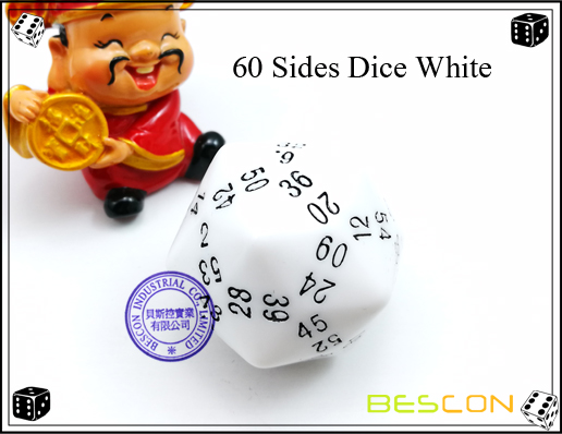 60 Sides Dice White