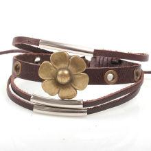Модный кожаный браслет-манжета KSQN-19