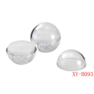 Ball Shaped Clear Compact Powder Container