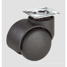 Nylon Home Furniture Stühle flache Caster Räder mit Bremse