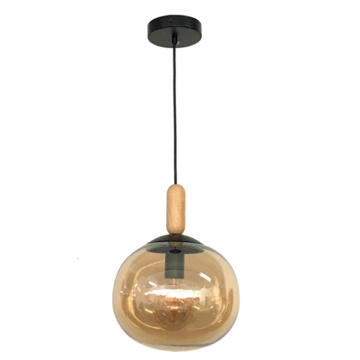 E27 support de lampe suspension morden en verre