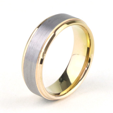 Murah Dua Tone Tungsten Wedding Bands Wanita
