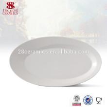 Plaque de service en céramique pour assiettes à dîner, assiette ovale promotionnelle