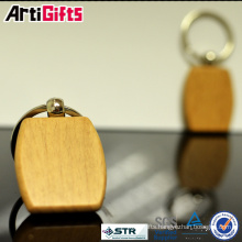 China factory custom wood barrel shaped keychain