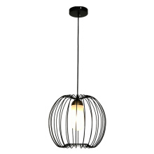 White Global Lampbody Wire Cage Deco Pendant Lamp