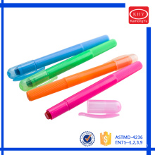 Assorted fluorescent colors rotated solid gel highlighter