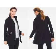 Lady Long Jacket Black Label Zippered Jacket