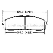 D304 for toyota disc brake pads