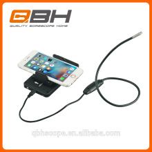 HD 2 en 1 Endoscope Android IOS 5.5mm 6pcs LED caméra d'inspection d'endoscope