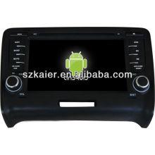 Reproductor de DVD del coche Android System para Audi TT con GPS, Bluetooth, 3G, iPod, juegos, zona dual, control del volante