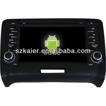 Android System Auto-DVD-Player für Audi TT mit GPS, Bluetooth, 3G, iPod, Spiele, Dual Zone, Lenkradsteuerung