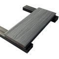 Plancher composé en plastique en bois Wpc 3d pour le patio