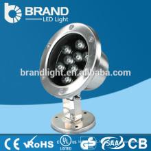 IP68 alta qualidade 12V 9X1W 9W luz subaquática do diodo emissor de luz, CE RoHS