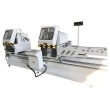 Maquina de ventana de aluminio con sierra de corte de doble cabezal