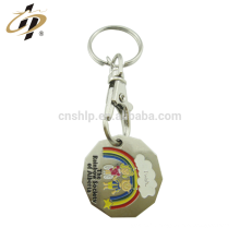 Usine personnalisé en émail logo deboss métal shopping token porte-clés